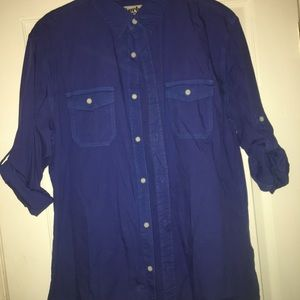 URBAN PIPELINE Blue casual long sleeve button down